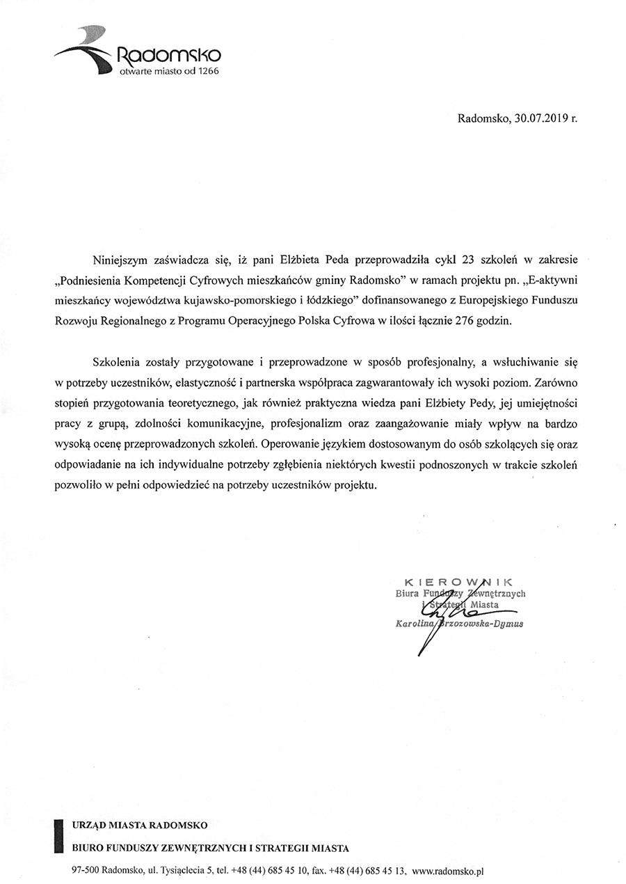 Referencje Radomsko